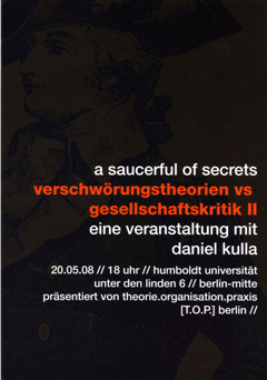 Flyer Daniel Kulla TOP Berlin Humboldt Universität