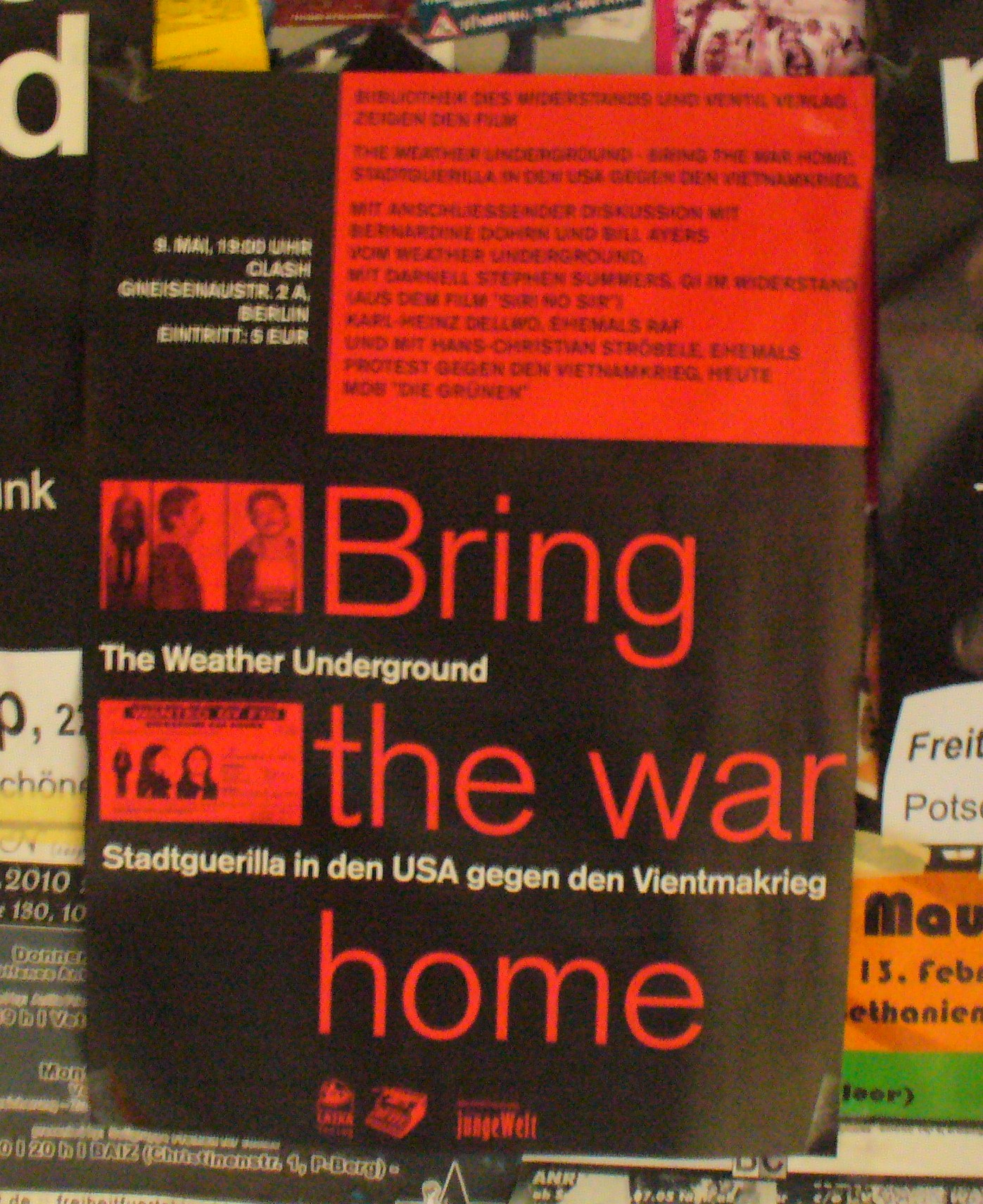 Plakat Clash Bring the war home