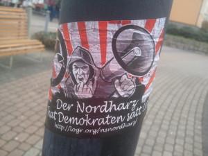 Naziaufkleber in Halberstadt
